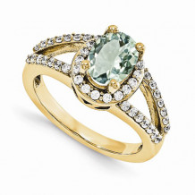 Quality Gold 14K Yellow Gold AA Diamond Semi-Mount Gemstone Ring
