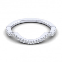 Gabriel & Co. 14k White Gold Contemporary Curved Wedding Band - WB14295W44JJ