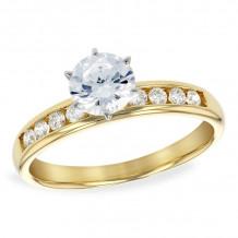 Allison Kaufman 14k Yellow Gold Diamond Straight Semi-Mount Engagement Ring