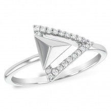 Allison Kaufman 14k White Gold Diamond Ring