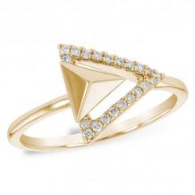 Allison Kaufman 14k Yellow Gold Diamond Ring