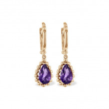 Allison Kaufman 14k Rose Gold Gemstone Drop Earrings