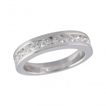 Allison Kaufman 14k White Gold Diamond Eternity Wedding Band