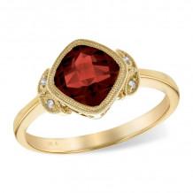 Allison Kaufman 14k Yellow Gold Gemstone & Diamond Ring