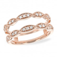 Allison Kaufman 14k Rose Gold Diamond Enhancer Wedding Band