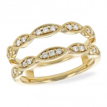 Allison Kaufman 14k Yellow Gold Diamond Enhancer Wedding Band