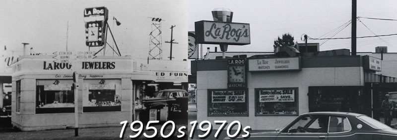 LaRog's historic landmark location on the corner of 82nd & Foster opened in 1946 and remained an anchor in the community for over 60 years. copy